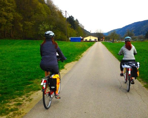 on the danube bike trail