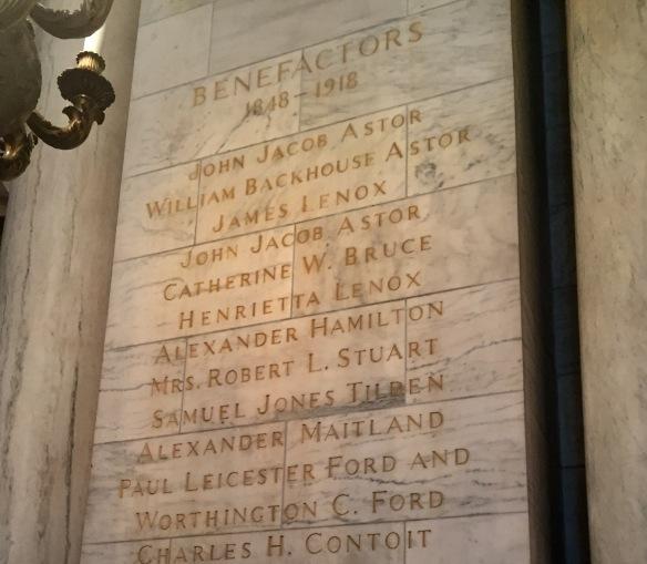 NYPL benefactors